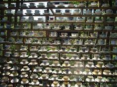 Mur de tasses(festival des Jardins de Chaumont)