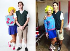 33 Ideas For Funny Couple Costumes Kids 90s Party Costume, Funny Couple Costumes, Funny Couple Halloween Costumes, Diy Couples Costumes, Family Costumes, Halloween Fun, Halloween Couples, Zombie Costumes, Homemade Halloween