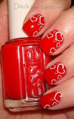 Ditch the Mittens: Valentine #nail #nails #nailart
