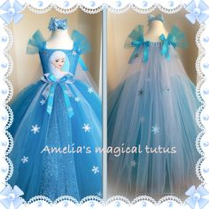 Frozen inspired tutu dress