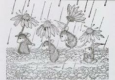 house mouse stempel