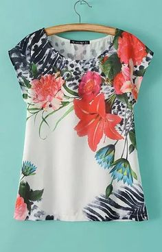 Floral Red Print T-Shirt – Trendy Road