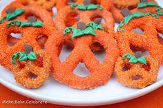 Creative Party Ideas by Cheryl: Chocolate Covered Pretzel Pumpkins