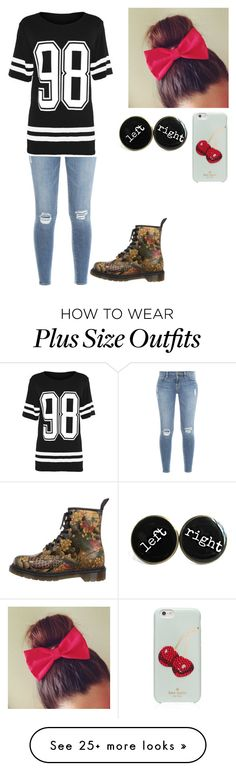 """Untitled #280"" by cupcakes3434 on Polyvore featuring mode, Frame Denim, Dr. Martens en Kate Spade"