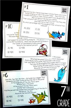 My 7th Grade Math students LOVED these percent increase and decrease task cards.  They were the perfect activity for my seventh grade math students to practice working with percents to prep for their STAAR state test.  This math activity is such better test prep than just a boring old 7th Grade Math worksheet.  Love!