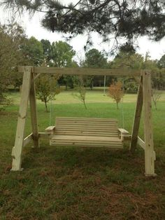 Image gallery homemade swing for Diy adult swing set