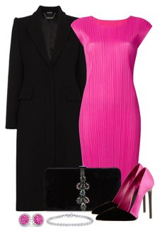 Untitled #1589 by gallant81 on Polyvore featuring Pleats Please by Issey Miyake, Alexander McQueen, Oscar de la Renta, Dsquared2 and Allurez