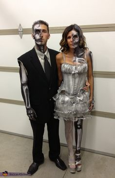 So who doesn't feel like this many days of the year? Halloween is the perfect day to show your best half; alive or dead? Half Dead Bride And Groom.