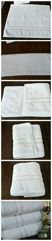 Inspired Wives: tutorial on how to fold towels like a catalog spread