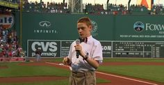 Christopher sings an amazing rendition of The Star-Spangled Banner. Duffley, who is blind and autistic, sang the national anthem at Fenway Park ahead of the Boston Red Sox-Cleveland Indians game on August Great Job Christopher! Cleveland Indians Game, Boston Red Sox Game, Singing The National Anthem, Star Spangled Banner, Fenway Park, 14 Year Old, Country Singers, Blinds, Teen