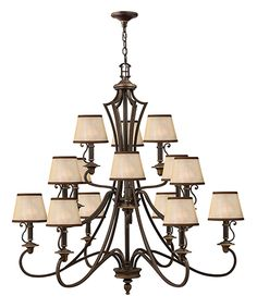 Fifteen light chandelier