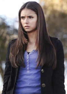 Nina Dobrev long atraight hair