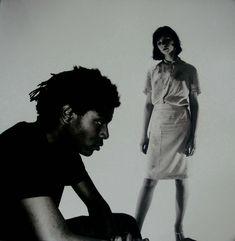 Jean-Michel Basquiat and Esther Balint 1980 ph. Edo Bertoglio