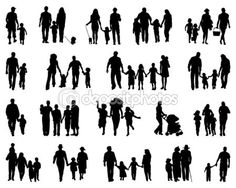 Familias — Vector de stock © matnikola #58400717
