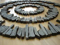 Midsummer Circles by Richard Long at Nasher sculpture center. Delabole slate, Diameter: 208 in. Richard Long, Organic Art, Elements Of Art, Environmental Art, Stone Art, Stone Painting, Installation Art, Garden Art, Landscape Photography