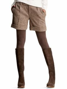 tweed shorts and tights