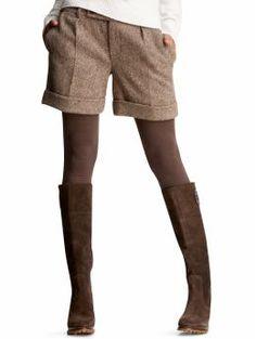 tweed shorts and tights