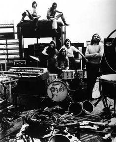 Picture of Pink Floyd during a live event .