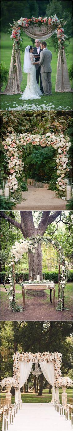 Floral wedding cerem