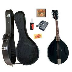 Rover RM-35BS A-Model Spruce Top Mandolin Bundle with Hardshell Case, Tuner, Strings, Polish, and Polishing Cloth - Black by Rover. $205.95. Bundle includes Rover RM-35BS A-Model Spruce Top Mandolin, Hardshell Case, Tuner, Strings, Polish, and Polishing Cloth. The Rover RM-35 A-Model Mandolins series features the traditional paddlehead peghead shape with the Rover logo in abalone pearl. The rosewood fingerboard is bound in white with 20 fast, low-action frets. The delu...