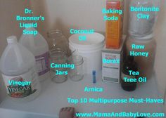 Top 10 Multipurpose must haves in your house if you are trying to live as natural as possible.