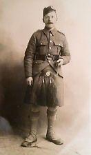WW I British RPPC Private C.A. Robinson of the London Scottish in Hampshire