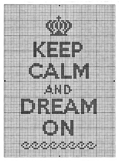 La Bande des Faineantes: Keep Calm and Dream On - Cross Stitch Pattern