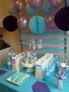 baby shower purple and turquoise - Google Search