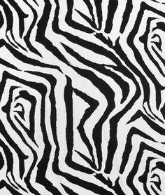 Premier Prints Zebra Black/White Fabric - $7.45   onlinefabricstore.net