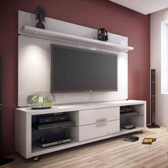 Remodeling a Small Bathroom There are two things very important in a home kitchens and bathrooms. Tv Wall Design, House Design, Muebles Rack Tv, Tv Rack, Fireplace Bookshelves, Tv Panel, Muebles Living, Basement Furniture, House Deck