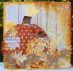 Fall Mixed Media Canvas - just my style blog