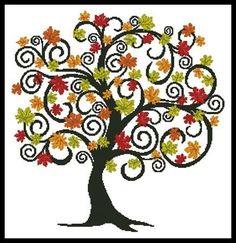 free tree of life block stitch pattern - Google Search