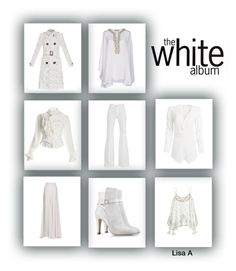 """""""The White Album"""" by labond on Polyvore featuring Emilio Pucci, Calypso St. Barth, 7 For All Mankind, Elie Saab, Burberry, Lovers + Friends, Vivienne Westwood and Alberta Ferretti"""