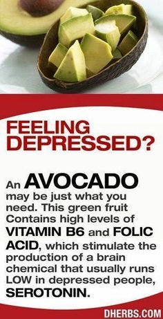 Avocado as an antidote for depression.