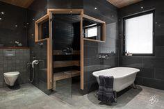 Bath Decor, Room Decor, Japanese Bathroom, Sauna Design, Style Japonais, Turkish Bath, Common Area, Made Of Wood, Main Colors