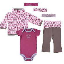 Yoga Sprout Girls Jacket, Bodysuit, Pant, and 3 Headbands Set  Lotus