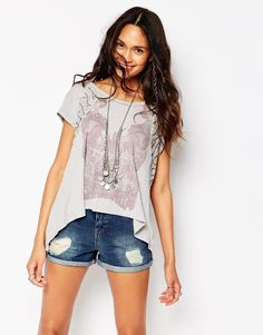 Free People Graphic Embellished T-Shirt