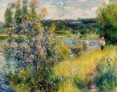 Pierre-Auguste Renoir, La Senna a Chatou, 1881 olio su tela, cm 73,3 x 92,4 Boston, Museum of Fine Arts dono di Arthur Brewster Emmons #versomonet