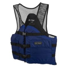 Onyx Outdoor Adults' Mesh Classic Sport Flotation Vest Bright Blue - Marine Supplies, Flotation at Academy Sports Canoe Camping, Fishing Vest, Jansport Backpack, Mesh, Swimming, Boating, Classic, Outdoor Living, Sports