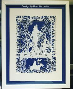 """The Snow Queen"" paper cut. Design by Bramble crafts, hand cut by myself."