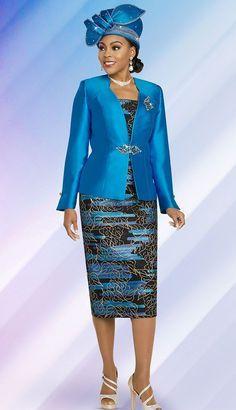 Ben Marc 48266 3 piece Skirt Suit Colors: Emerald, Mocha, Turquoise Sizes: 22 Matching HAT Available Ben Marc Church Dresses For Women, Church Suits And Hats, Women Church Suits, Suits For Women, Church Attire, Church Hats, Church Outfits, Women's Dresses, Fashion Dresses
