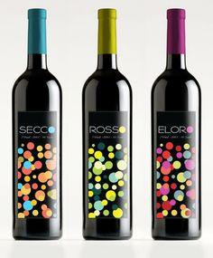 Wine label design, packaging