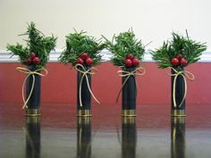 shotgun shell ornaments | Black 12 ga. Shotgun Shell Ornaments - Set of 4