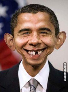 Obama Dumbo.  #funny #haha #lol #laughtard #funnypics #obama #dumbo