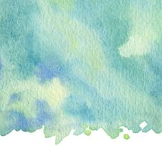 Green and blue watercolor background on card stock