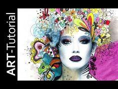 zAcheR-fineT design Tutorial Acrylmalerei Workshop mit Monotypie abstrakt - YouTube