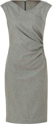 ShopStyle: Ralph Lauren Steel Luxury Flannel Deidre Dress