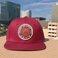 Against The Grain SnapBack - Red and Gold face5ad8a21