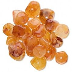 Fiery orange red acrylic chip beads resemble amber that is the glowing color of fall leaves in Vermont.