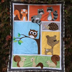 wholesale woodland animals | Shop | Category: Baby Blankets | Product: forest friends template pack